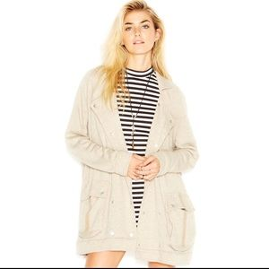 Free People Notched-Lapel Slouchy Peacoat Anorack